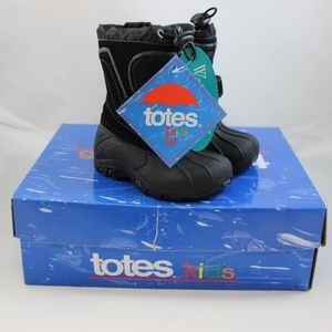 Totes Trent Toddler Boys' Winter Boots - Black